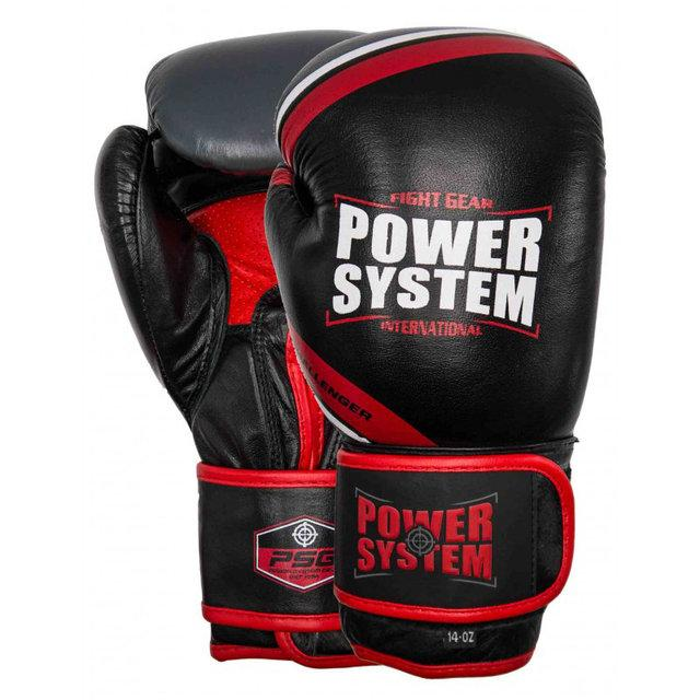 ПЕРЧАТКИ ДЛЯ БОКСА POWERSYSTEM PS 5005 CHALLENGER BLACK/RED